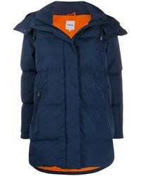 Aspesi Feather Down Hooded Parka - Blue