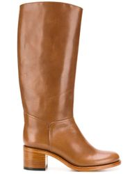 A.P.C. - Classic Knee-high Boots - Lyst