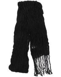 Yohji Yamamoto フリンジ スカーフ - ブラック