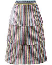 Mary Katrantzou - Baccarat Tiered Skirt - Lyst