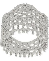 Aurelie Bidermann - 18kt White Gold Vintage Lace Diamond Ring - Lyst