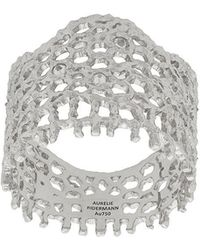 Aurelie Bidermann - 18kt White Gold Vintage Lace Diamond Ring - Lyst
