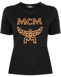 MCM ロゴ グラフィック Tシャツ - ブラック