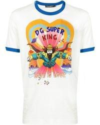 Dolce & Gabbana Dg Super King プリント Tシャツ - マルチカラー