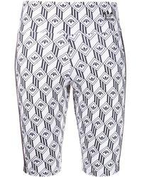 adidas Shorts da ciclismo a vita alta - Bianco