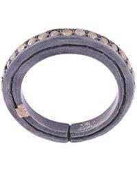 Rosa Maria Ester Yellow Diamond Ring - Metallic