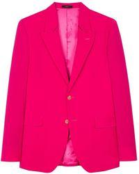 Paul Smith Однобортный Пиджак - Розовый