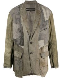 Ziggy Chen Deconstructed Patchwork Blazer - Green