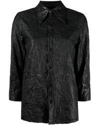 Zadig & Voltaire - Tris Cuir Froissé レザーシャツ - Lyst