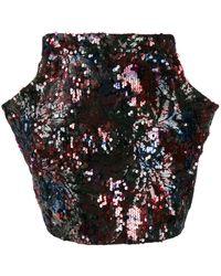 Roseanna Bowie Turner Sequin Skirt - Blue