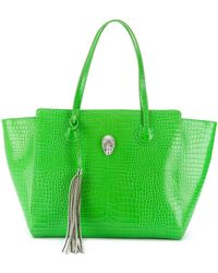 Philipp Plein Croc-effect Tote - Green
