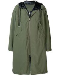 Moncler Abrigo a capas con capucha - Verde