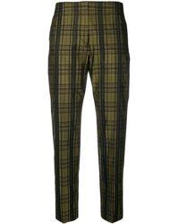 Mantu Metallic Tailored Pants - Green