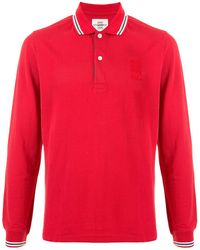 Kent & Curwen Striped Collar Polo Shirt - Red