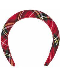 Mc2 Saint Barth Embroidered Tartan Headband