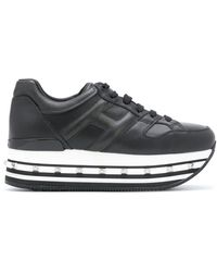 Hogan Embossed Logo Platform Sneakers - Black