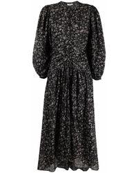 Étoile Isabel Marant フローラル ドレス - ブラック