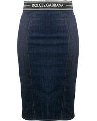 Dolce & Gabbana デニム ペンシルスカート - ブルー