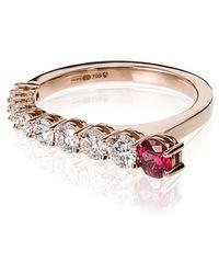 Melissa Kaye - 18k Yellow Gold Aria Diamond Ring - Lyst