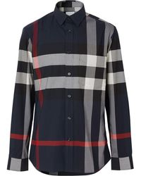Burberry - Camicia a quadri - Lyst
