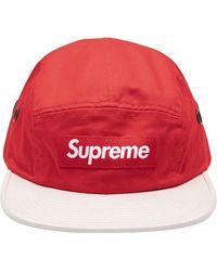Supreme Cappello da baseball con applicazione - Rosso