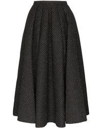 Rosie Assoulin Glitter Polka Dot Full Skirt - Black