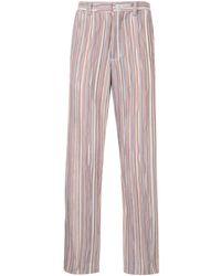TOKYO JAMES Stripe Straight-leg Trousers - Multicolour