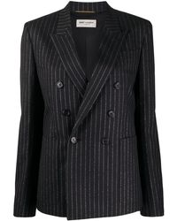 Saint Laurent Pinstriped double-breasted blazer - Negro