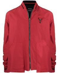 Reese Cooper Slogan-print Reversible Jacket - Red