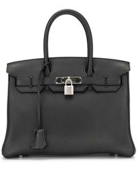 Hermès 2016 プレオウンド バーキン 30 バッグ - ブラック