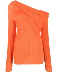 Nina Ricci One Shoulder Jumper - Orange