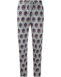 Viktor & Rolf X Calida Rose-print Pyjama Trousers - Grey