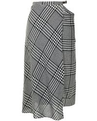 Tibi チェック スカート - ブラック