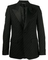 Givenchy Пиджак С Заостренными Лацканами И Логотипом - Черный