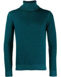 Roberto Collina Turtleneck Slim-fit Jumper - Blue