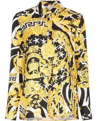 Versace Shirt Met Zebra Print - Zwart