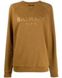Balmain ロゴ スウェットシャツ - ブラウン