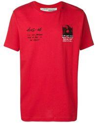 Off-White c/o Virgil Abloh - T-Shirt mit Mona Lisa-Print - Lyst