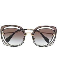 Miu Miu - Scenique Cut-out Sunglasses - Lyst
