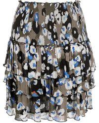 Lala Berlin Falda con estampado abstracto a capas - Multicolor