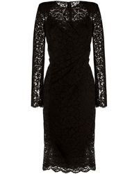 Dolce & Gabbana シャーリング ドレス - ブラック