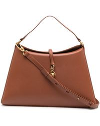 Nanushka Curved Shoulder Bag - Brown