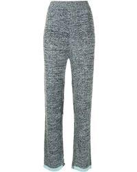 Christopher Esber Deconstruct Knitted Pants - Blue