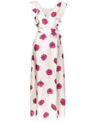 LaDoubleJ - Long Floral Print Dress - Lyst