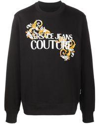 Versace Jeans Couture Sweater Met Barokprint - Zwart