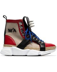 Marques'Almeida - Spike Embellished Canvas Hi Top Sneakers - Lyst