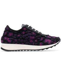 Just Cavalli - Textured Leopard Print Runner Trainers - Lyst