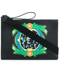 Versace - Leather Clutch - Lyst