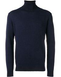 Zanone Turtle Neck Sweater - Blue