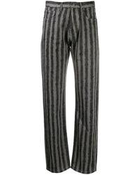 KENZO - Pantalones a rayas verticales - Lyst